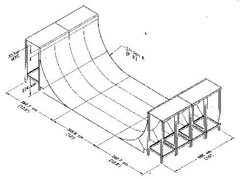 Skateboard Halfpipe Plans